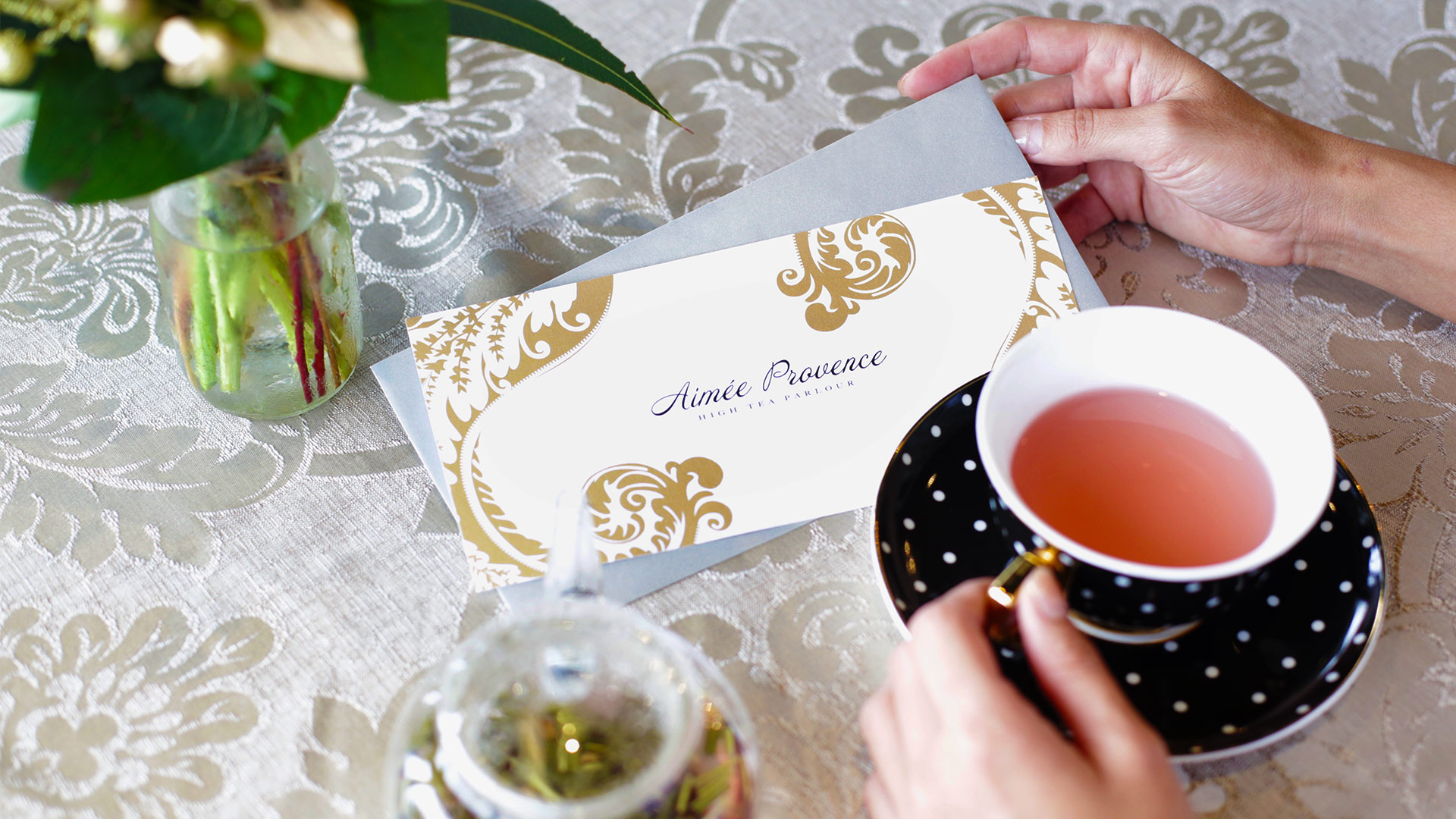 High tea gift voucher Aimee Provence