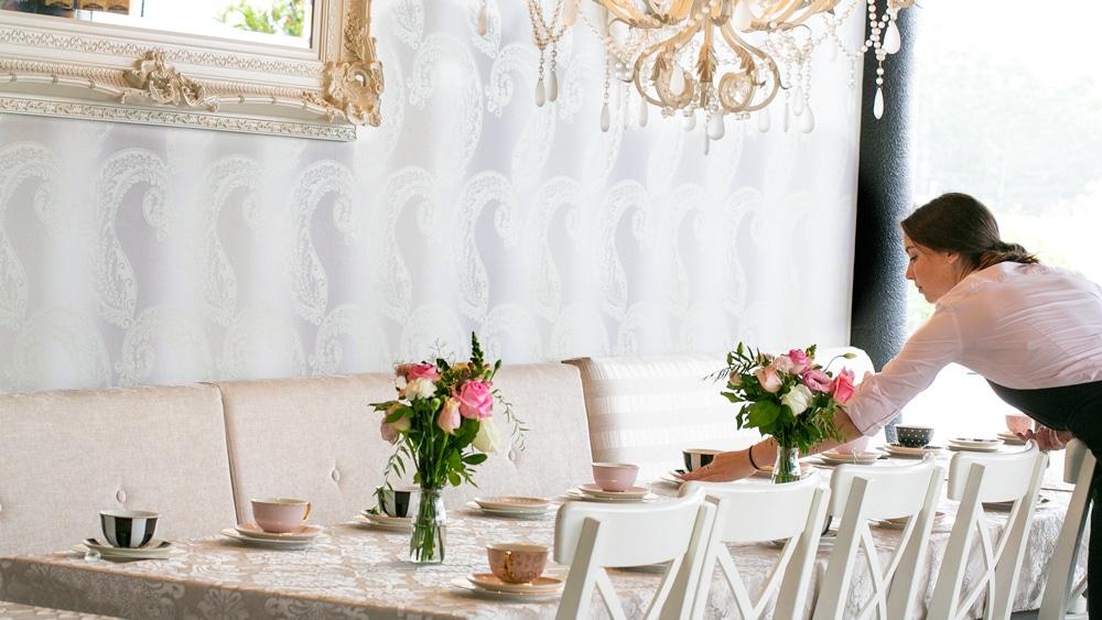table setting high tea