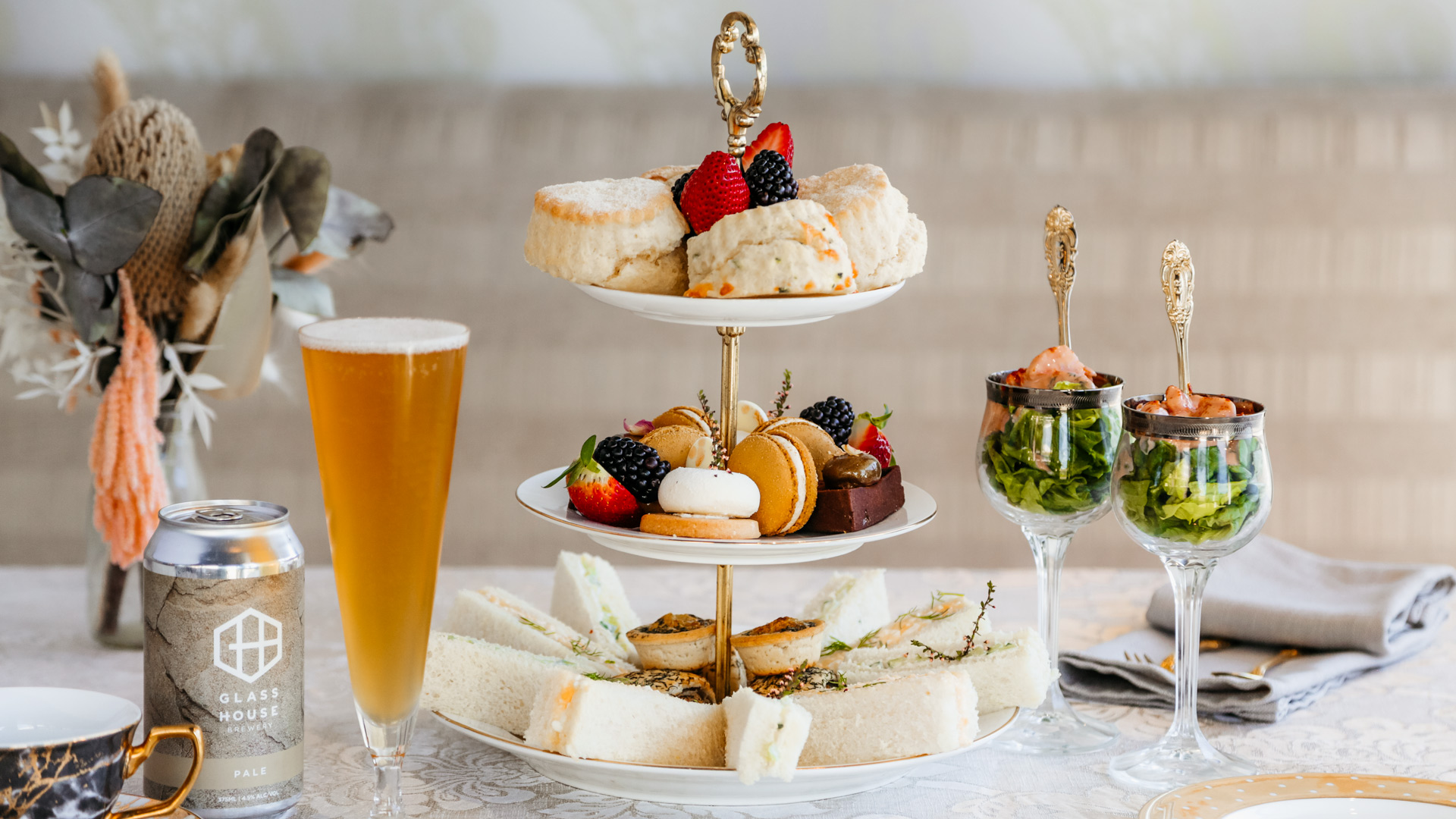 high tea setting aimee provence